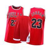 CXMY Jordan Men Women Kids Basketball Jerseys Suits, Bulls 23# Sports Clothing Sets, Unisex Retro Basketball Swingman Sportswear Breathable Comfort-Red-M