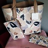 Kate Spade Bags | Kate Spade 3-Piece Arch Leather Tote Set Nwt | Color: Tan | Size: Tote Is Approx 12 H X 13.5 W X 6.5 D