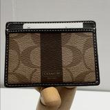 Coach Accessories | Coach F74515 Slim Credit Card Case Brown | Color: Brown/Red | Size: Os