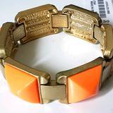J. Crew Jewelry   J Crew Nwt Coral Gold Stretch Bracelet   Color: Orange   Size: Os