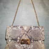 Michael Kors Bags   Michael Kors Python Skin Chain Strap Purse   Color: Gray/Tan   Size: Os