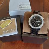 Michael Kors Jewelry | Michael Kors Ladies Chronograph Watch Mk5190 | Color: Black | Size: Os