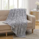 Industrial Lodge Home Strattford Faux Fur Throw Faux Fur in Gray, Size 60.0 H x 50.0 W in   Wayfair 584BD9BBAC414B7E91009138981C842E