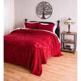 Plow & Hearth Juliet Tufted Bedspread Blanket Cotton in Red, Size 82.0 W in | Wayfair 52A89 ARD