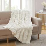Industrial Lodge Home Strattford Faux Fur Throw Faux Fur in White, Size 60.0 H x 50.0 W in   Wayfair 09E8CFD584AC446A854261E044422E66