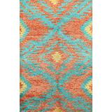 Contemporary Modern Moroccan Oriental Area Rug Wool Hand-Knotted Carpet 5x8 (5' 4'' x 7' 9'')