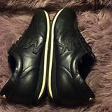 Michael Kors Shoes | Michael Kors- Black On Black With Gold Sneakers | Color: Black/Gold | Size: 9m
