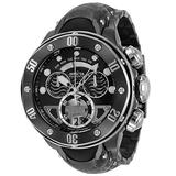 Invicta Men's Reserve Swiss Quartz Watch with Stainless Steel, Silicone Strap, Black, 30.4 (Model: 33483)