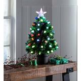 Plow & Hearth Fiber-Optic Tabletop Christmas Tree in Green, Size 26.5 H x 15.0 W x 15.0 D in   Wayfair 65K15