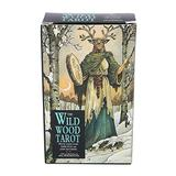 HPH 78 Cards/Set of Wild Wooden Tarot Cards, Beginner Deck Divination Card Board Game Card Set Guide (with Color Box) for Family Gathering Friends