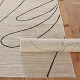 Monstera Indoor/Outdoor Rug Black 9' x 12' - Ballard Designs