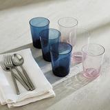 Ayla Tumblers - Set of 6 Blue - Ballard Designs