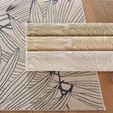 """Carara Indoor/Outdoor Rug Silver 7'7"""" x 10'10"""" - Ballard Designs"""