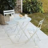 Cafe 3-Piece Folding Table Dining Set Black - Ballard Designs