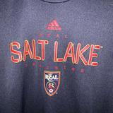 Adidas Shirts & Tops | Kids Xl Adidas Real Salt Lake Soccer Tee | Color: Blue/Gray | Size: Xlb