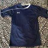 Under Armour Shirts & Tops | Kids Under Armour Youth M Navy Soccer Jersey | Color: Blue/White | Size: Mb