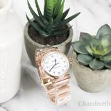 Coach Accessories | Coach Madison Rose Gold White Dial Wrist Watch | Color: Gold/Pink | Size: Os