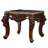 Brilliant Life Forsythia Marble Top End Table Wood in Brown/Gray/Red, Size 25.0 H x 30.0 W x 30.0 D in   Wayfair AC83072