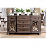 "One Allium Way® Boxborough 68"" Wide 6 Drawer Sideboard Wood in Brown, Size 38.0 H x 68.0 W x 19.0 D in | Wayfair 23DB7842FA284D21B7A72188E612895A"