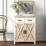 Kelly Clarkson Home Paloma 2 - Door Accent Cabinet Wood in Brown, Size 31.5 H x 25.25 W x 13.25 D in | Wayfair 79F2ABA87B904A5F8D4CDF03AE666BC5