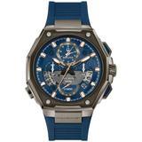 Chronograph Precisionist X Blue Epdm Rubber Strap Watch 44.5mm - Blue - Bulova Watches