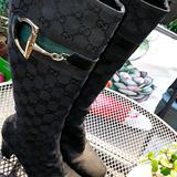 Gucci Shoes   Gucci Horsebit Mid Knee High Boots   Color: Black/Green   Size: 8