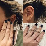 Free People Jewelry   New Free People Stacking Rings Rose Gold Ear Cuff   Color: Gold   Size: Os
