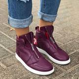 Nike Shoes | Nike Air Jordan 1 Zip Premium Bordeaux Sneaker | Color: Purple | Size: 7