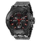 Invicta Men's Reserve Swiss Quartz Diving Watch with Stainless Steel Strap, Black, 31 (Model: 34409)