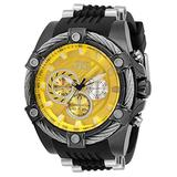 Invicta Men's Bolt Japanese Quartz Watch with Silicone, Stainless Steel Strap, Black, 26 (Model: 32701)