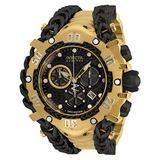 Invicta Men's Reserve HERC Swiss Quartz Watch with Stainless Steel Strap, Gold, Black, 41 (Model: 34434)