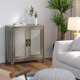 Rosalind Wheeler Dinapoli 2 Door Accent Cabinet Wood in Brown/Green, Size 32.0 H x 30.0 W x 15.5 D in | Wayfair B2DE78D31ADB4920A13F0BF53AC5D8EC