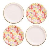 Paper Source Garden Party Small Paper Plates 12-Count, Multicolor