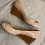 Coach Shoes | Coach Pink Wedge Peeptoes | Color: Pink | Size: 8.5