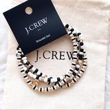 J. Crew Jewelry   J. Crew Beaded Stretch Bracelet Set Of 4   Color: Black/White   Size: Os