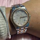 Michael Kors Accessories | Michael Kors Kiley Gold Tone Dial Two Tone Watch | Color: Gold/Silver | Size: Os