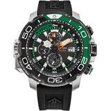 Eco-drive Promaster Aqualand Black Rubber Strap Watch 46mm - Black - Citizen Watches