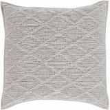 """Roberval 26""""W x 26""""L Modern Duvet 100% Cotton Sateen Cotton Light Gray Bedding - Hauteloom"""
