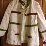 Tory Burch Jackets & Coats | Brand New Womans Jacket With A Flaw | Color: Cream/Green | Size: 14