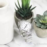 Coach Accessories | Coach Madison Silver Tone White Dial Wrist Watch | Color: Silver/White | Size: Os