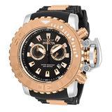 Invicta Men's Sea Hunter Stainless Steel Swiss Quartz Watch with Silicone Strap, Black, 30 (Model: 32653)