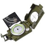 Lensatic Military Compass for Hiking - Tritium Compass Military Grade style Camping Backpacking - Tactical Army Green Compass Survival Navigation - Hiking Waterproof Sighting Compass with Inclinometer