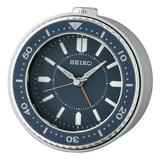 Seiko Mai Analog Quartz Alarm Tabletop Clock Plastic/Acrylic in Blue, Size 3.74 H x 1.97 W x 3.7 D in | Wayfair QHE184LLH