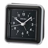Seiko Mai Analog Quartz Alarm Tabletop Clock Plastic/Acrylic in Black, Size 3.74 H x 1.97 W x 3.7 D in | Wayfair QHE184KLH