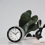 Seiko Mai Analog Quartz Alarm Tabletop Clock Plastic/Acrylic in White, Size 3.74 H x 1.97 W x 3.7 D in | Wayfair QHE184JLH