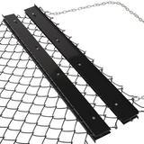 Tri Global Enterprises Chain Rake Field in Black/Gray, Size 13.0 H x 15.0 W x 21.0 D in | Wayfair YARD-DH-045