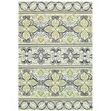 Highland Dunes Waut Hand-Woven Ivory Indoor/Outdoor Area Rug Polypropylene in White, Size 48.0 H x 24.0 W x 0.25 D in | Wayfair