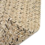 Highland Dunes Webrook Hand Braided Beige RugPolypropylene in Brown/White, Size 90.0 H x 90.0 W x 0.38 D in | Wayfair
