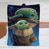 Ripepin Baby Yoda Ultra-Soft Micro Fleece Throws Blanket Air Conditioning Blanket for All Season Bedding Couch Plush House Warming Decor