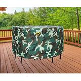 """WJ eTrade Outdoor Waterproof UV Resistant Table Chairs Cover, 108"""" Diax32 H Fits 7-9 Pcs Large Round Dining Set, Camo"""